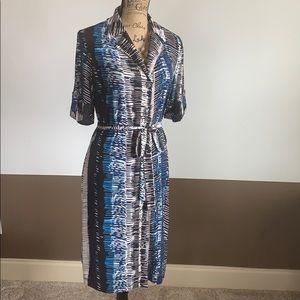 ✨Like New✨Dana Buchman Collared Patterned Dress